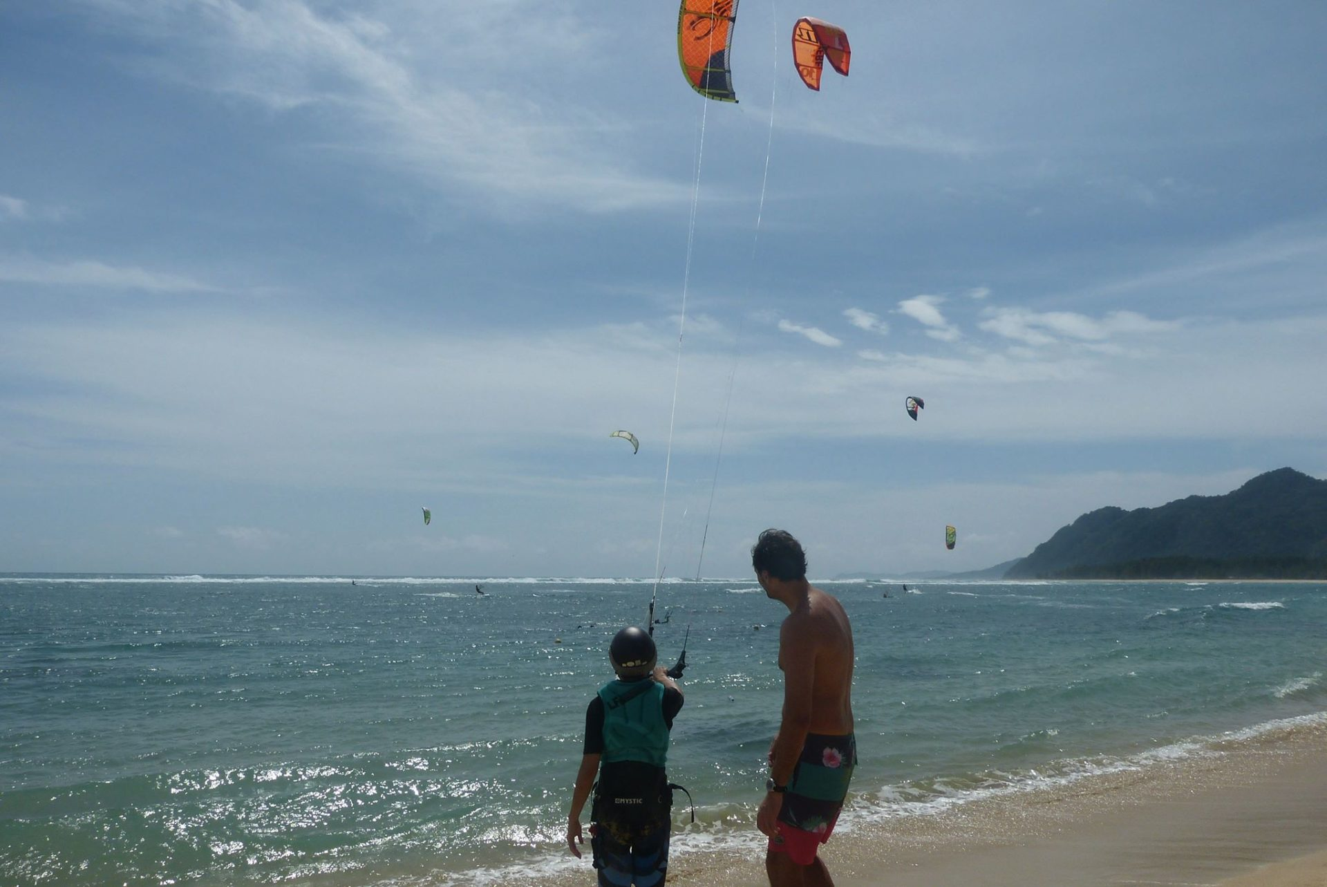 Kiteboard student in Indonesia